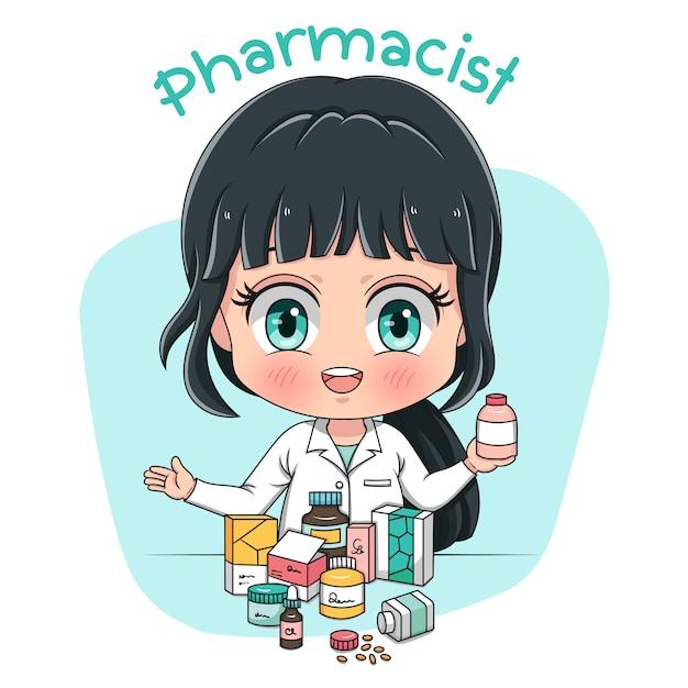 Caractère pharmacien Vecteur Premium