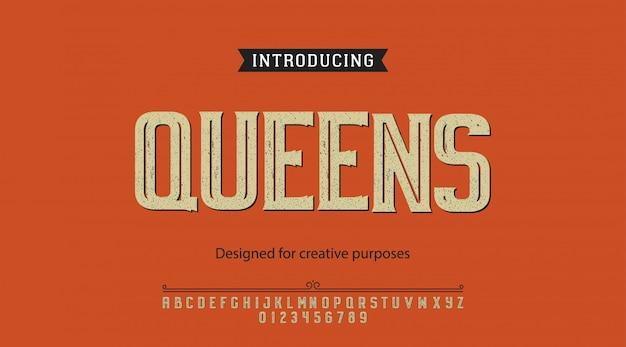 Caractère queens. pour étiquettes et différents types Vecteur Premium