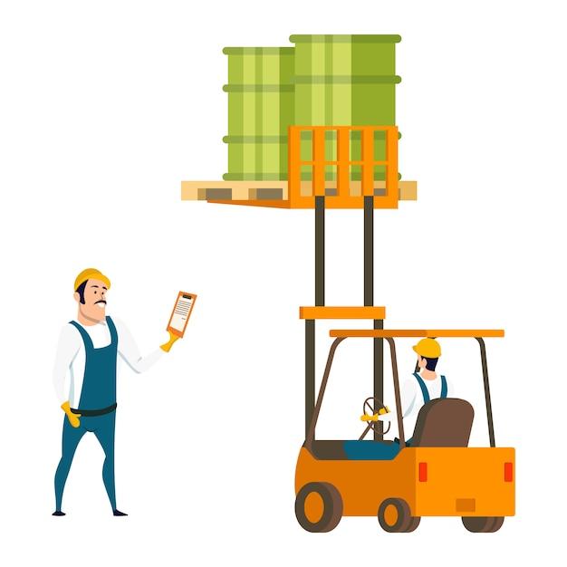 Caractère travailleur masculin Vecteur Premium
