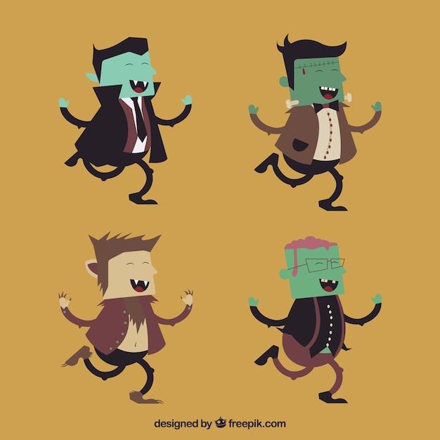 Caract res dr le de halloween t l charger des vecteurs - Image halloween drole ...