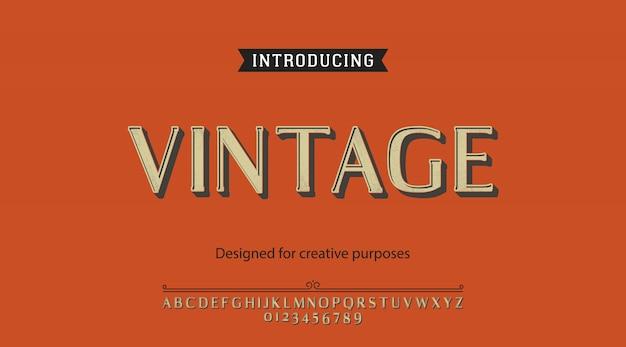 Caractères Vintage.pour étiquettes Et Dessins De Types Différents Vecteur Premium