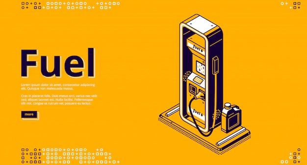 Carburant, Service De Ravitaillement En Pétrole Isométrique Vecteur gratuit