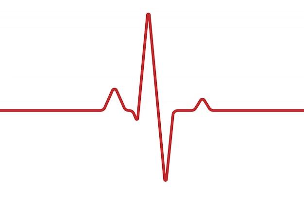 Cardiogramme Cardiaque Isolé Sur Blanc Vecteur Premium