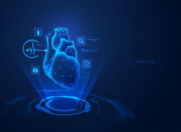 Cardiologie Vecteur Premium