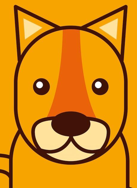 Caricature d'animaux safari Vecteur gratuit