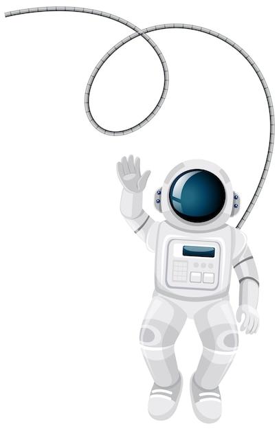 Caricature D'astronaute Isolé Sur Fond Blanc Vecteur gratuit