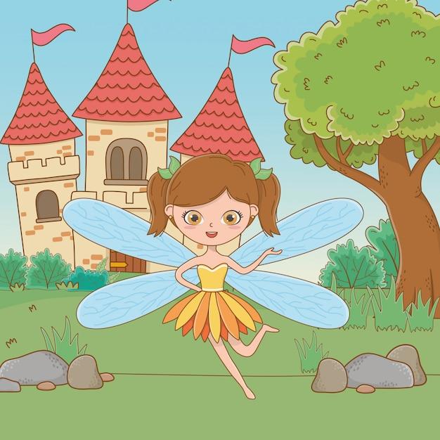 Caricature de conte de fées Vecteur gratuit