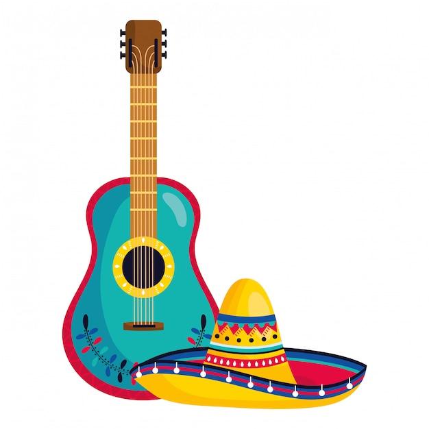 Caricature de la culture mexicaine au mexique Vecteur Premium