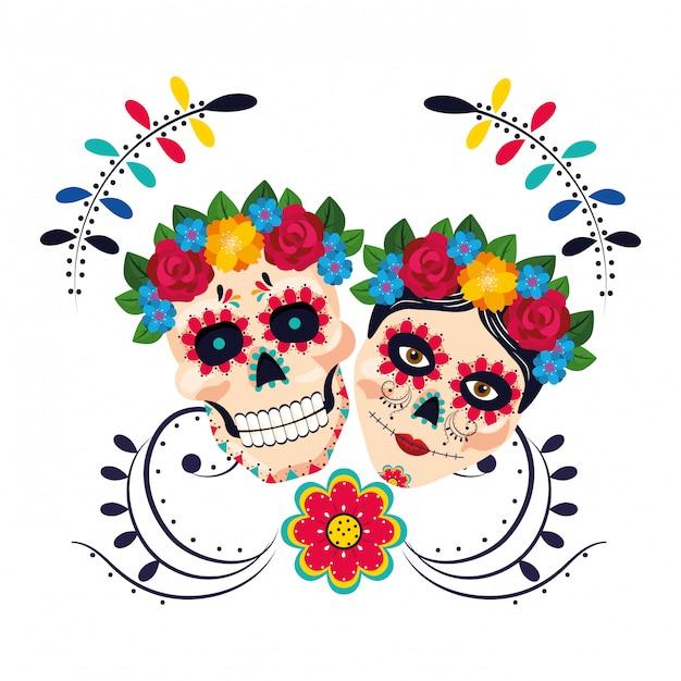 Caricature de la culture mexicaine Vecteur Premium
