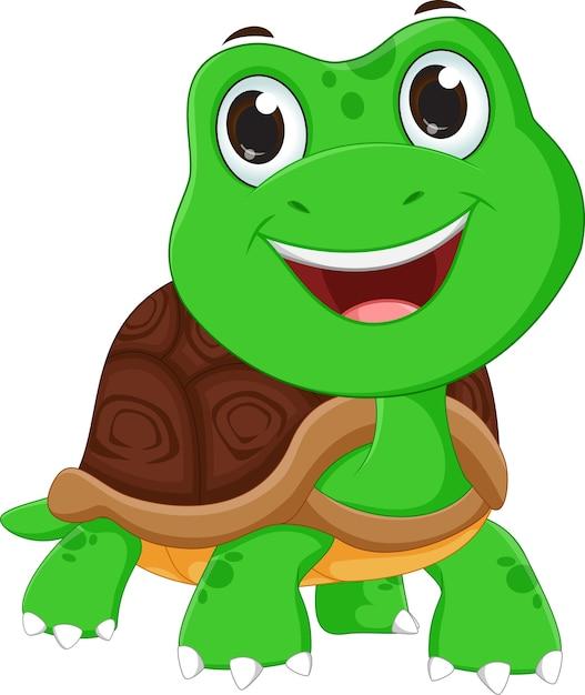 Caricature de tortue heureux télécharger des vecteurs