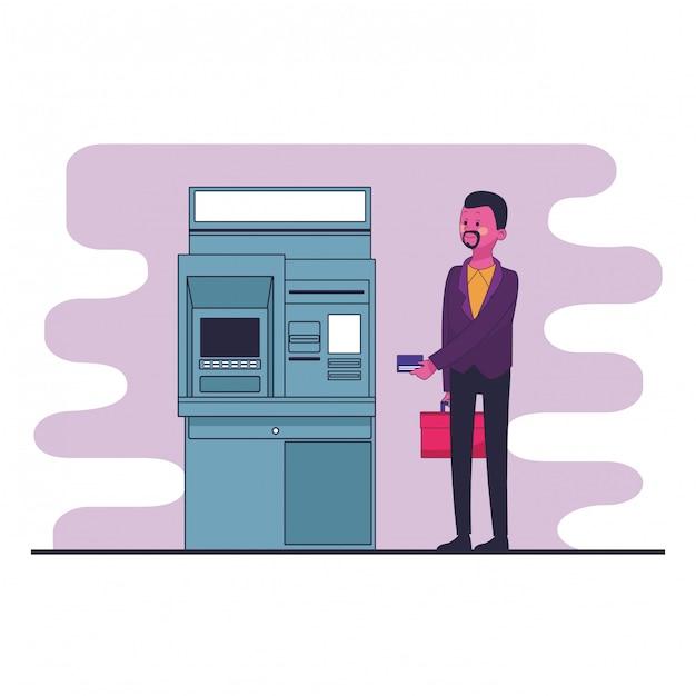 Caricature d'économie d'argent Vecteur Premium