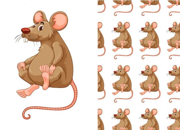 Caricature De Modèle De Rat Sans Soudure Vecteur gratuit
