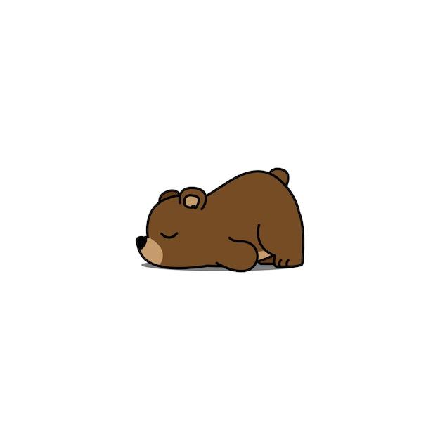 Caricature D'ours Paresseux Vecteur Premium
