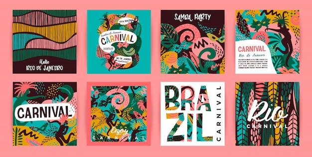 Carnaval brésilien Vecteur Premium