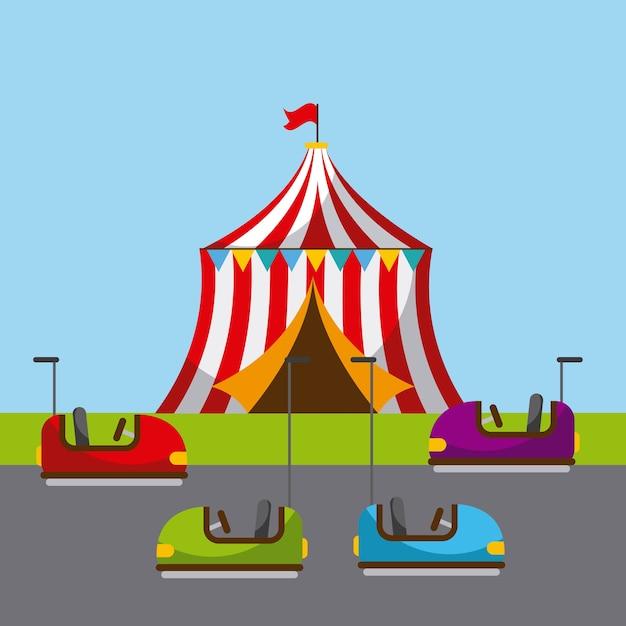 Carnaval Fun Festival Fair Cirque Park Vecteur Premium