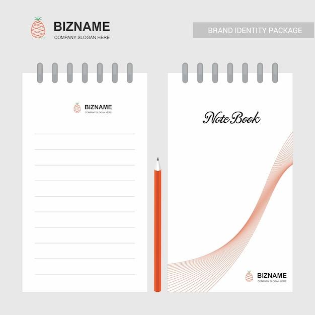 Carnet De Compagnie Et Journal Intime Avec Vecteur De Design Créatif Vecteur Premium