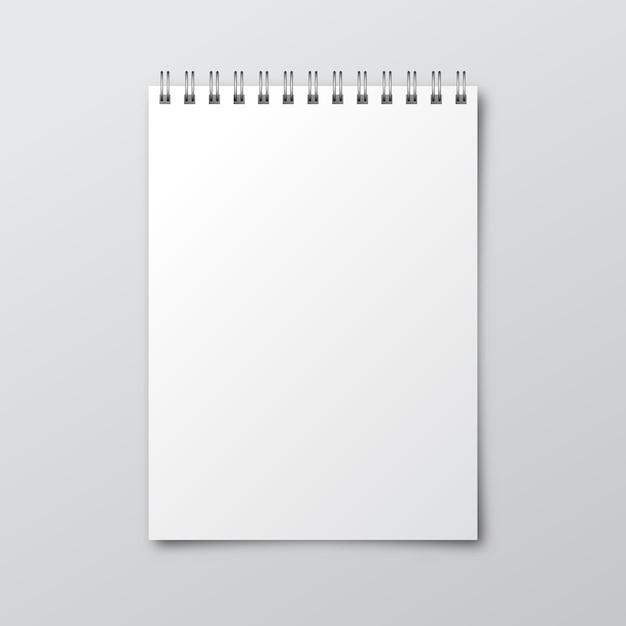 Carnet. Maquette De Cahier En Papier. Modèle De Cahier Vecteur Premium