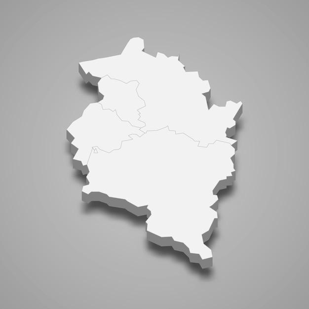 Carte 3d De L'état D'autriche Vecteur Premium