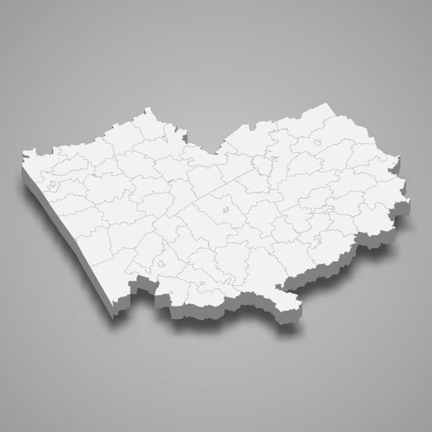 Carte 3d De La Région De La Russie Vecteur Premium