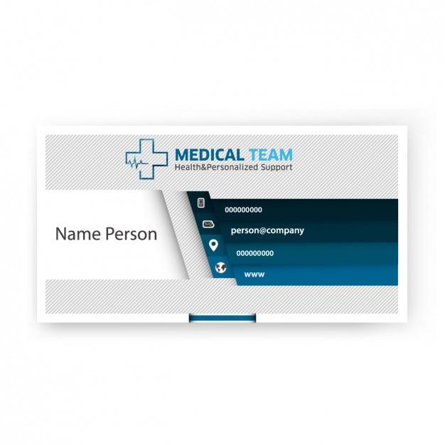 Carte d'affaires moderne de l'équipe médicale Vecteur gratuit