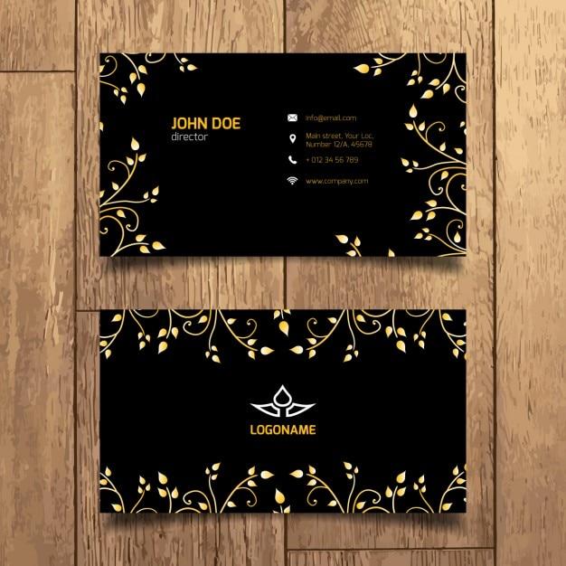 Carte D'affaires D'or élégante | Vecteur Gratuite