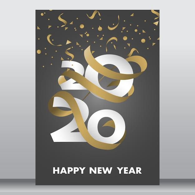 Carte ou affiche du nouvel an Vecteur Premium