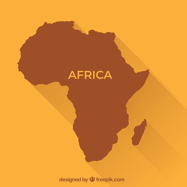Carte de l'afrique dans le style plat Vecteur gratuit