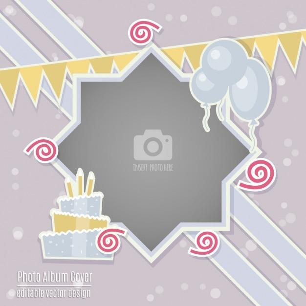 Carte D'anniversaire Avec Un Cadre Vecteur gratuit