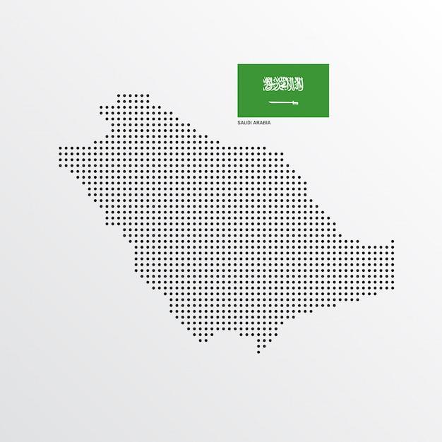 Carte de l'arabie saoudite Vecteur gratuit