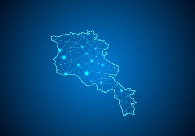 Carte De L'arménie. Vecteur Premium