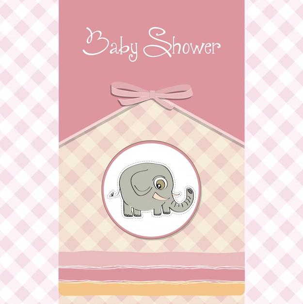 Carte De Baby Shower Romantique Vecteur gratuit