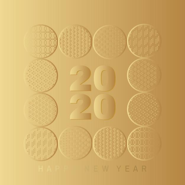 Carte de bonne année 2020 Vecteur Premium