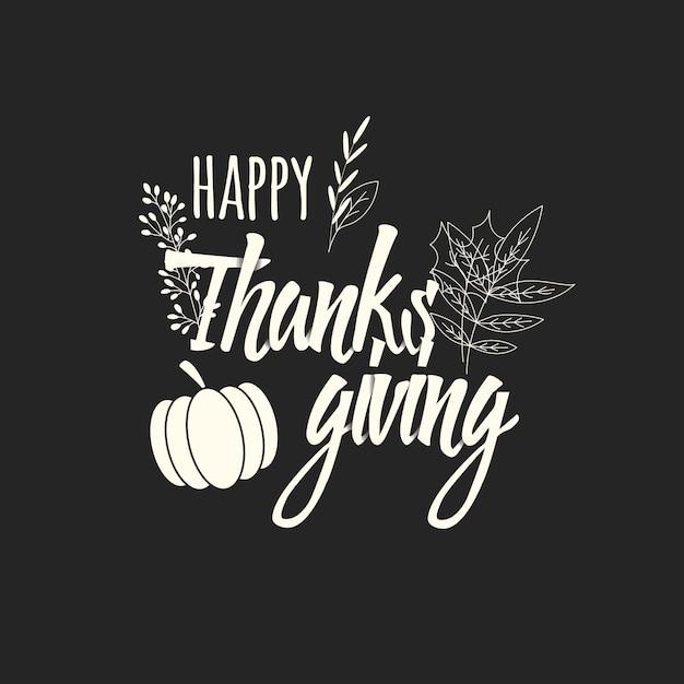 Carte de bonne fête de thanksgiving Vecteur Premium