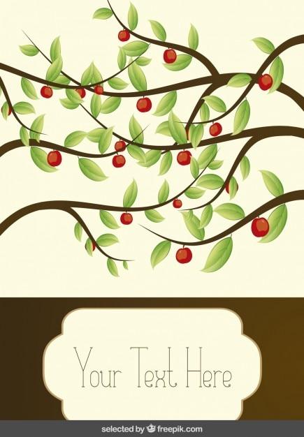 Carte avec des branches Vecteur gratuit