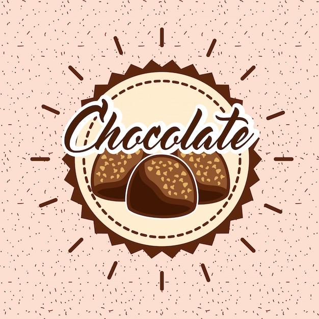 Carte de cacao au chocolat Vecteur Premium