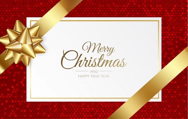 Carte-cadeau, bon, certificat de noël, nouvel an, anniversaire. Vecteur Premium