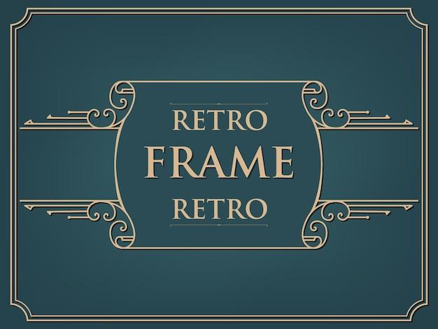 Carte De Cadre De Style Vintage Vecteur gratuit