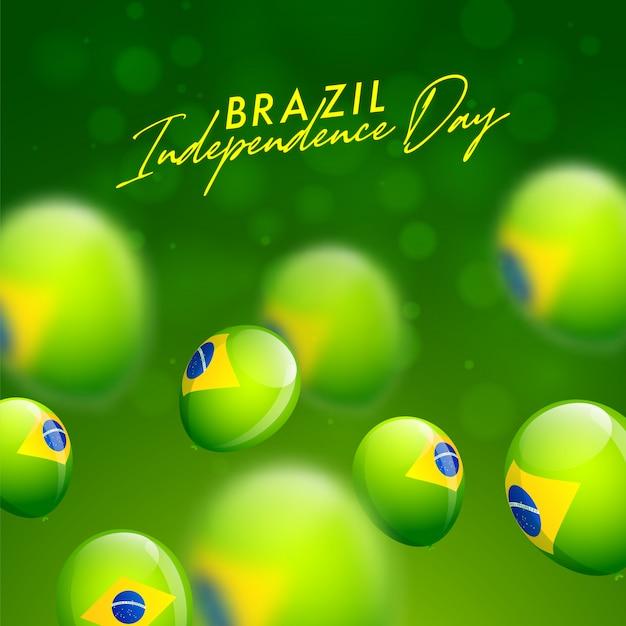 Carte de célébration de la fête de l'indépendance du brésil Vecteur Premium