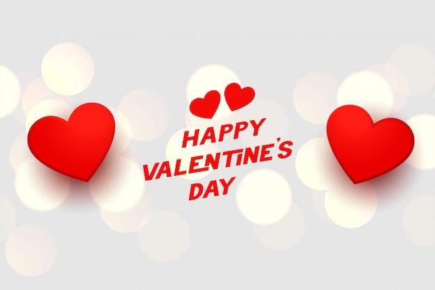Carte De Coeurs De Célébration Heureuse Saint Valentin Vecteur gratuit