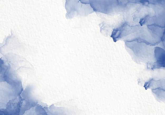Carte De Conception De Peinture Fluide Aquarelle Bleue Style De Splash De Colorant. Encre D'alcool Vecteur gratuit