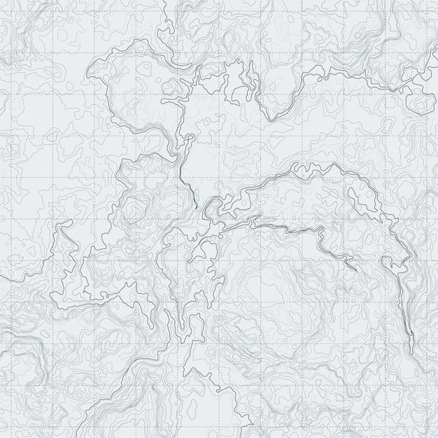 Carte de contour abstraite avec relief différent. illustration vectorielle topographique pour la navigation Vecteur Premium