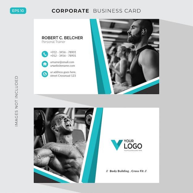 Carte corporative de fitness Vecteur gratuit
