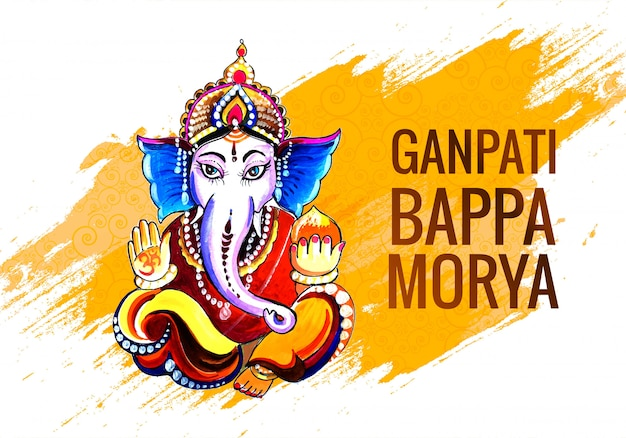 Carte Créative Festival De Ganesh Chaturthi Vecteur gratuit