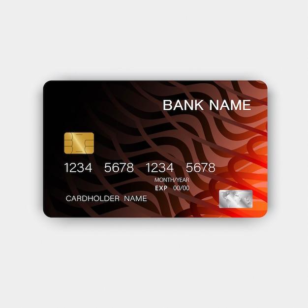 Carte de crédit réaliste Vecteur Premium