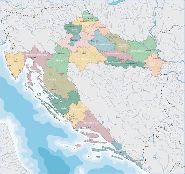 Carte Croatie A Telecharger.Carte De La Croatie Telecharger Des Vecteurs Premium