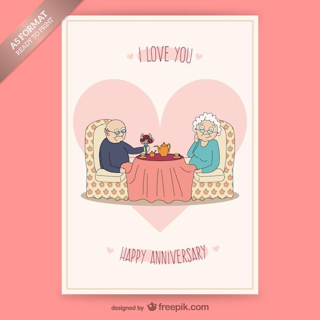 carte d anniversaire en couple