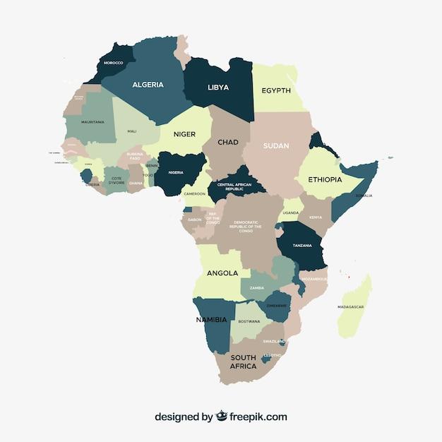 Carte de l'Afrique Vecteur gratuit