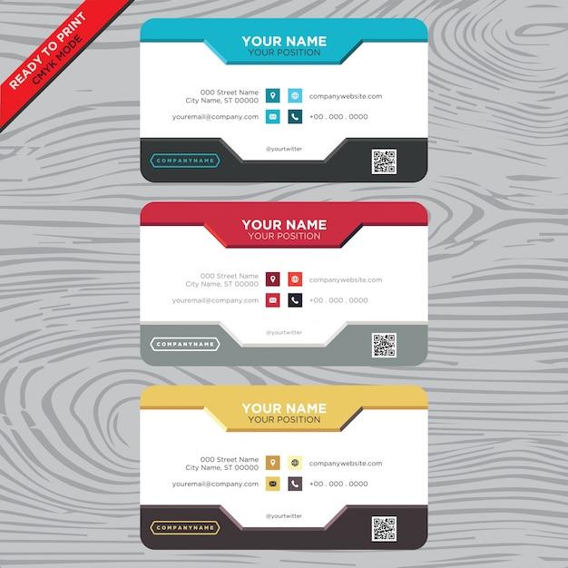 Carte de visite avec design classique Vecteur gratuit