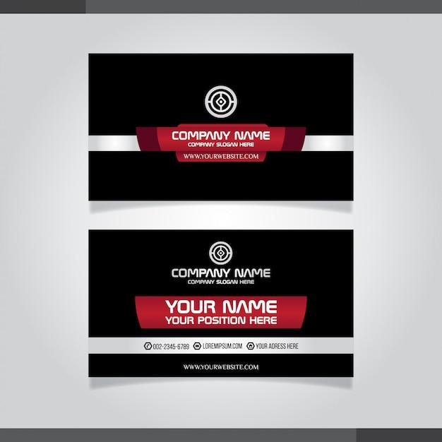 Carte De Visite Creative Moderne Rouge Et Vecteur Premium