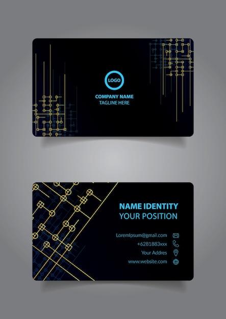 Carte De Visite Lgante Vecteur Premium